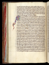 Decorated Initial, In St. Peter Chrysologus's 'Sermons' f.20v